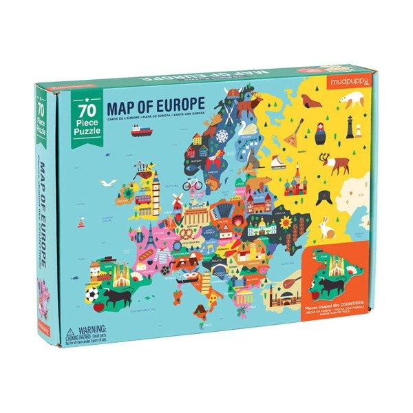 Mudpuppy Puzzle Mapa Europy Z Elementami W Ksztalcie Panstw 5