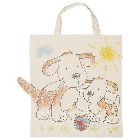 Bawełniana torba z pieskami do kolorowania, Goki