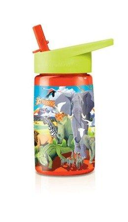 Butelka z rurką, motyw safari