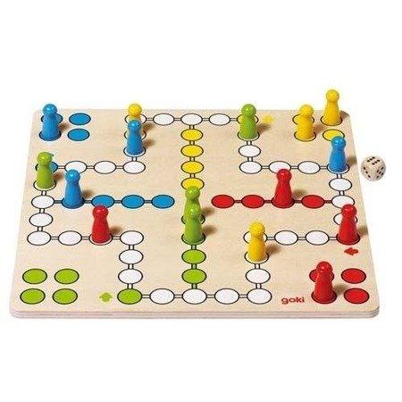 Drewniana gra chińczyk, logiczna zabawa, Goki 56710
