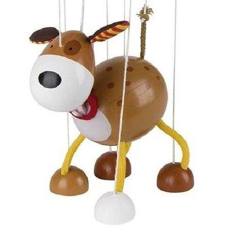 Drewniana marionetka wzór Pies, Goki 51755