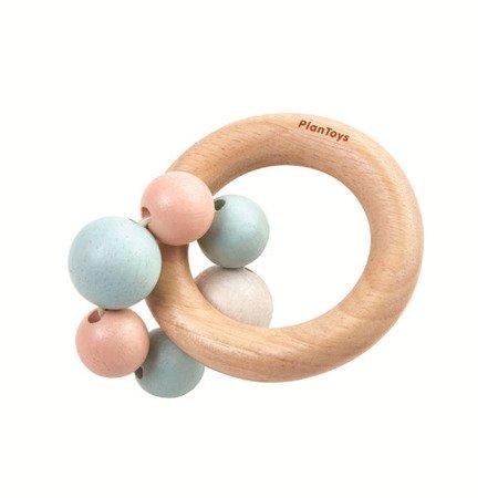 Drewniana pastelowa grzechotka, koraliki   Plan Toys®