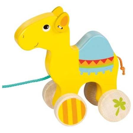 Drewniana zabawka do ciągnięcia dromader Goki