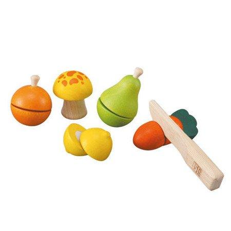 Drewniane warzywa i owoce do krojenia, Plan Toys PLTO-5337