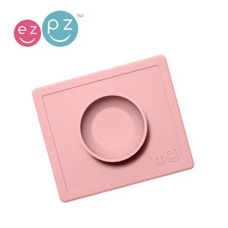 EZPZ Silikonowa miseczka z podkładką 2w1 Happy Bowl pastelowy róż