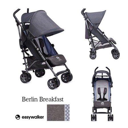Easywalker Buggy+ Wózek spacerowy z osłonką przeciwdeszczową Berlin Breakfast kolekcja 2018
