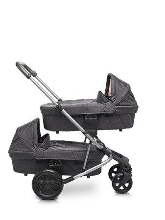 Easywalker Harvey/Harvey2 Gondola do wózka – wersja dla bliźniąt Coal Black