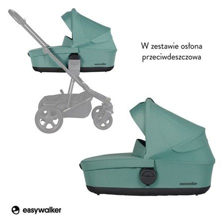 Easywalker Harvey2 Gondola do wózka Coral Green (zawiera osłonkę przeciwdeszczową)