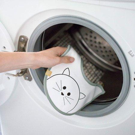 Lassig Śliniak bawełniany wodoodporny 0m+ Little Chums Kot