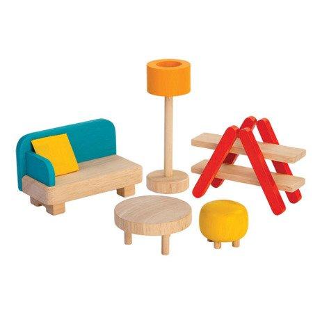 Mebelki dla lalek Salon, Plan Toys PLTO-7347
