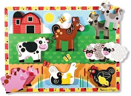 Melissa and Doug Drewniane Puzzle Farma