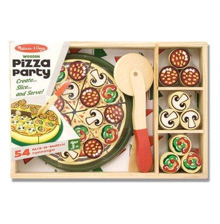 Melissa and Doug, Drewniany Zestaw Pizza Party 3-5 lat
