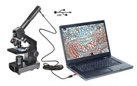 Mikroskop 40x-1024 USB w walizce National Geographic