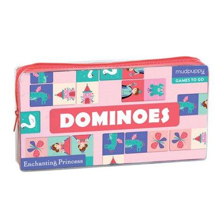 Mudpuppy Gra Domino Księżniczka w podróżnym opakowaniu