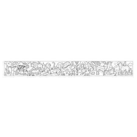 Mudpuppy Kolorowanka w rolce 3m z 6 kredkami Zwierzęta Świata