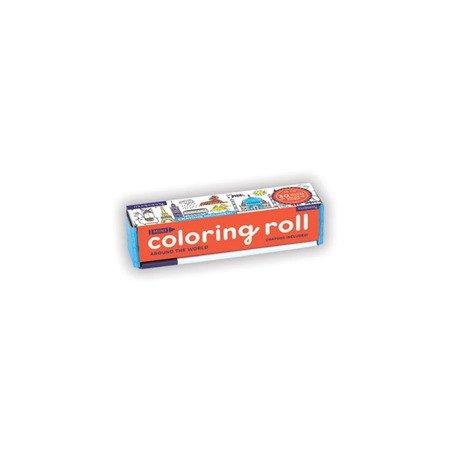 Mudpuppy Kolorowanka w rolce 76 cm z 4 kredkami Dookoła świata