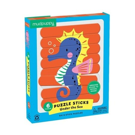 Mudpuppy Puzzle Patyczki Morskie stworzenia 24 elementy 3+