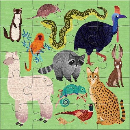 Mudpuppy Puzzle magnetyczne Zwierzęta lądowe i wodne 4+