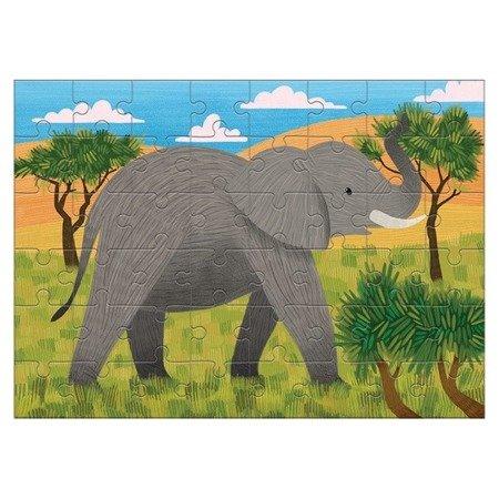 Mudpuppy Puzzle mini Słoń afrykański 48 elementów 4+