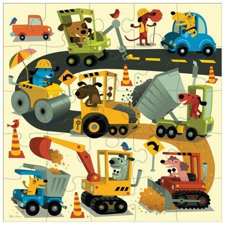 Mudpuppy Puzzle podłogowe Jumbo Budowa 25 elementów 2+