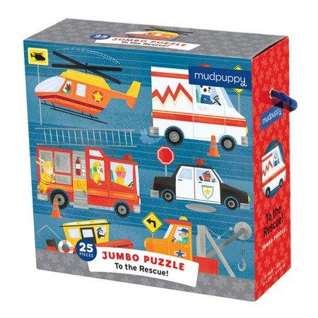 Mudpuppy Puzzle podłogowe Jumbo Na ratunek! 25 elementów 2+