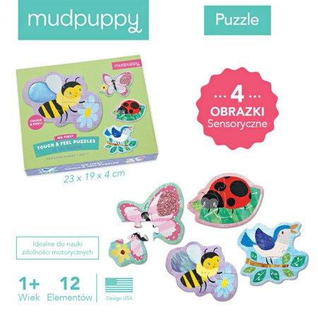 Mudpuppy Puzzle sensoryczne Ogród 1+
