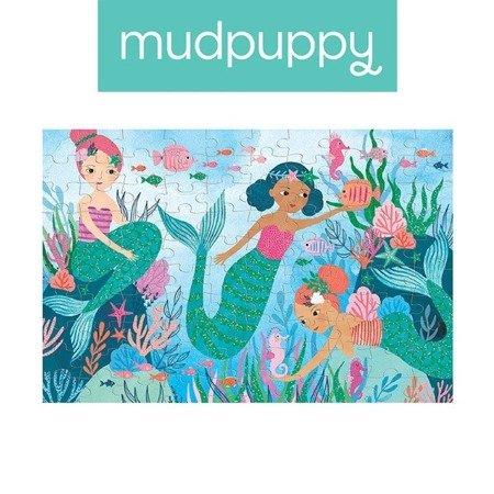 Mudpuppy Puzzle z brokatem Syrenki 100 elementów 5+
