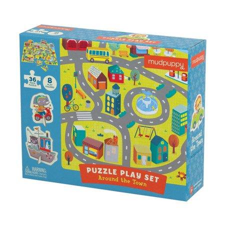 Mudpuppy Puzzle zestaw z 8 figurkami W mieście 3+