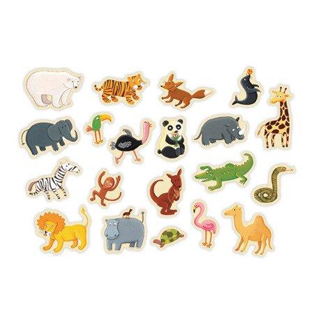 Mudpuppy Zestaw magnesów Zwierzęta z zoo 20 elementów