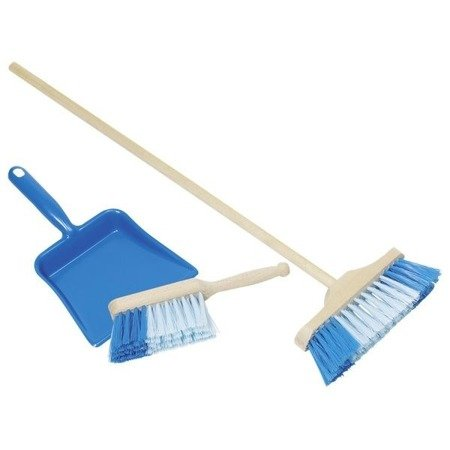 Niebiesk zestaw do sprzątania, szczotka + szufelka