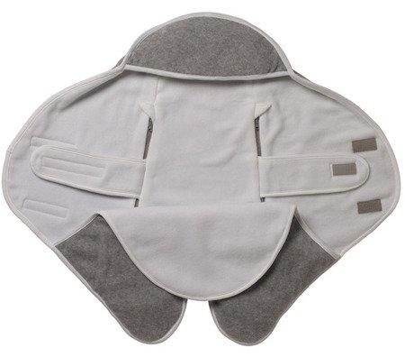 Otulacz rożek Babynomade 6-12m Double Fleece Light grey/ White Red Castle