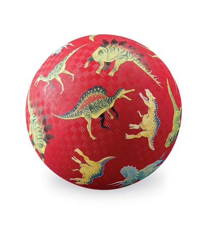 Piłka 18 cm, wzór czerwone dinozaury