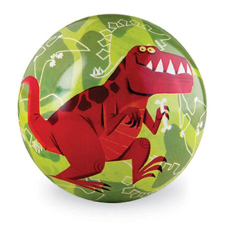 Piłka 4'', 10 cm, motyw dinozaur, Crocodile Creek