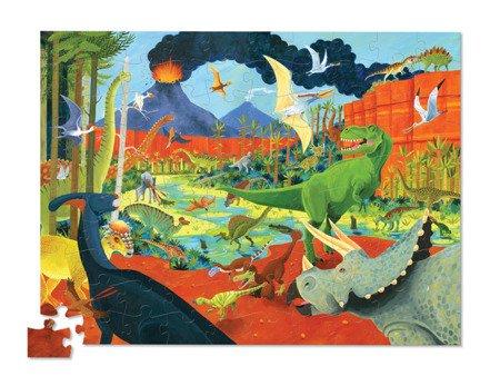 Puzzle 100el., motyw dinozaury, Crocodile Creek