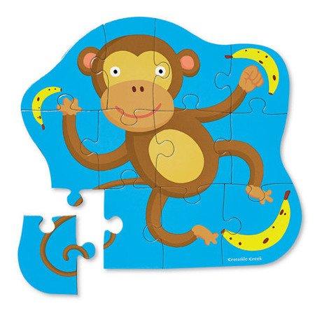 Puzzle 12 el., Mała małpka, Crocodile Creek