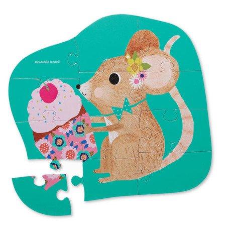 Puzzle 12el., motyw słodka myszka, CC