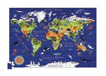 Puzzle 200el, motyw Mapa Świata, Crocodile Creek
