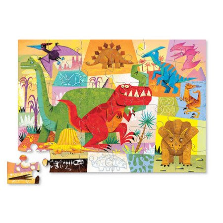 Puzzle 36 el., Dinozaury,  Crocodile Creek