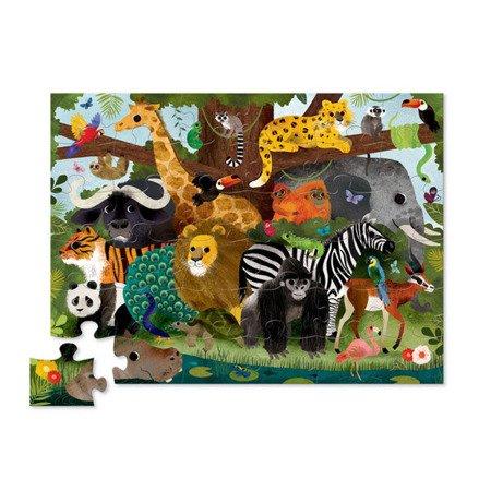 Puzzle 36 el. motyw przyjaciele z dżungli, Crocodile Creek 4076-3