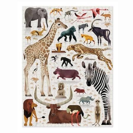 Puzzle 750 el. - Świat Zwierząt Afrykańskich