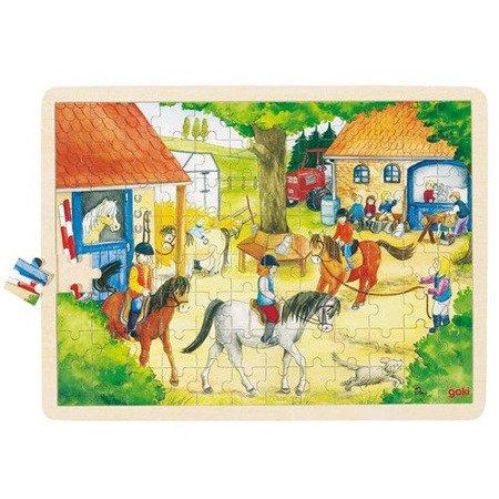 Puzzle 96 el. wzór Koniki, Goki 57843