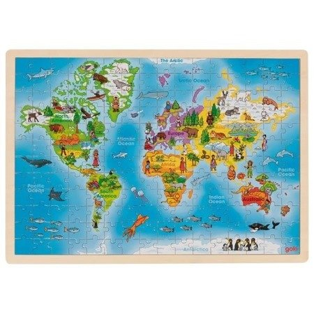 Puzzle Świata -  192 elementy, 4+, Goki