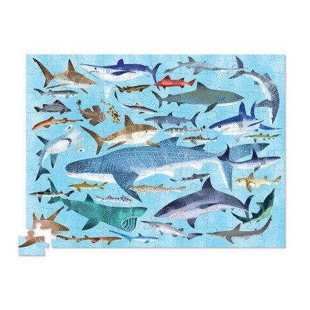 Puzzle w tubie 100 el., rekiny, Crocodile Creek 4054-8