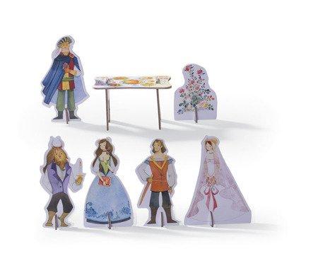 """Puzzle z figurkami, motyw """"Piękna i bestia"""", CC"""