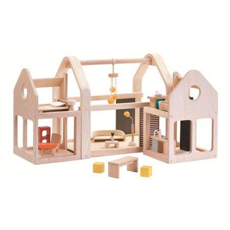 Składany domek dla lalek, Plan Toys 7611