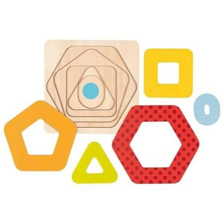 Układanka warstwowa kształty geometryczne II