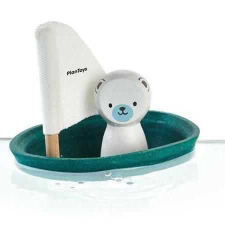 Żaglówka z misiem polarnym, zabawka do kąpieli | Plan Toys®