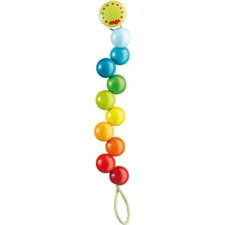 Zawieszka do smoczka - Tęczowe perły
