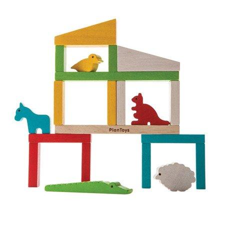 Zbuduj zoo, układanka drewniana, Plan Toys®